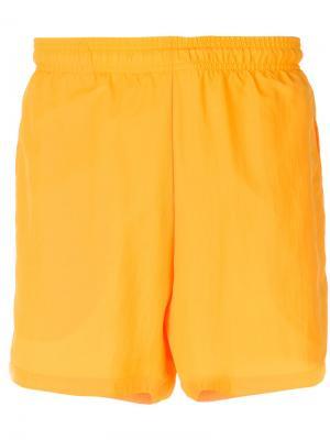 Спортивные шорты Gosha Rubchinskiy x Adidas Originals. Цвет: жёлтый и оранжевый
