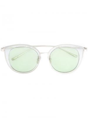 Солнцезащитные очки в оправе кошачий глаз Maska. Цвет: зелёный