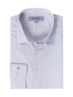 Рубашка STENSER. Цвет: светло-серый