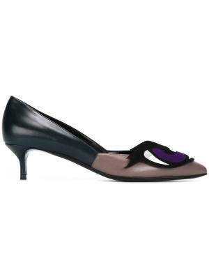 Туфли-лодочки с аппликацией Pierre Hardy. Цвет: многоцветный