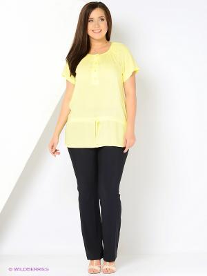 Блузка VENUSITA. Цвет: желтый