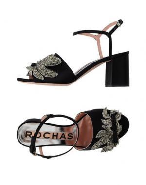 Сандалии ROCHAS. Цвет: черный