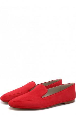 Замшевые слиперы Venetian Walk Loro Piana. Цвет: красный