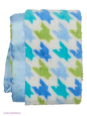 Плед на атласной подкладке Ракета, 1 шт. (плюш, атлас) Hudson Baby. Цвет: голубой