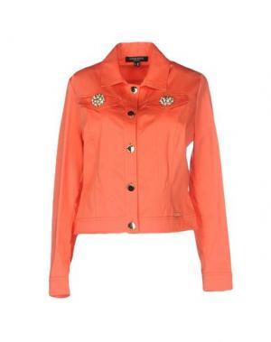 Куртка CHIARA D'ESTE. Цвет: коралловый