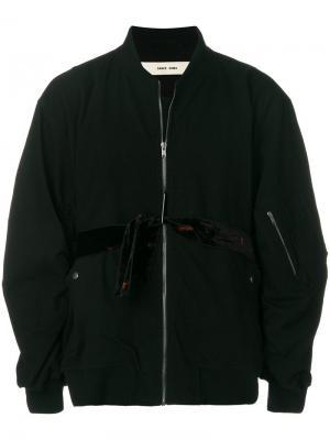 Куртка-бомбер  с поясом Damir Doma. Цвет: чёрный