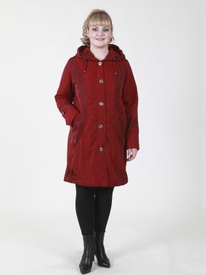 Пальто Млада VIKO. Цвет: темно-красный