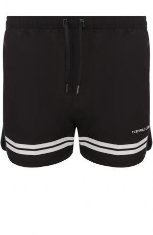 Плавки-шорты с контрастными полосками Neil Barrett. Цвет: черно-белый