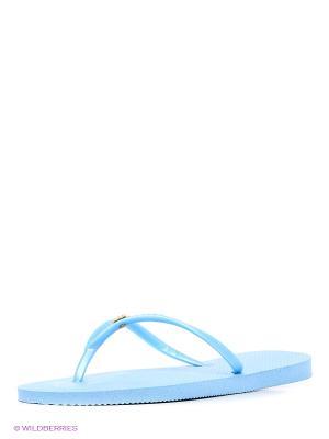 Шлепанцы DUPE. Цвет: голубой