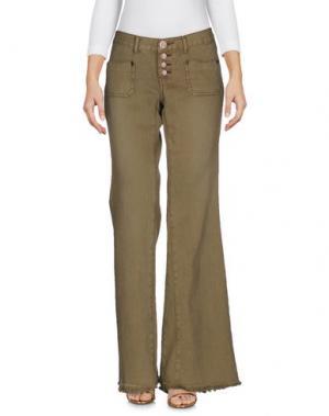 Джинсовые брюки ONE x ONETEASPOON. Цвет: зеленый