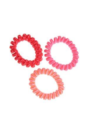 Резинка для волос (3 шт.) Happy Charms Family. Цвет: красный, оранжевый, розовый
