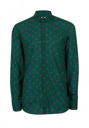 Рубашка Topman. Цвет: зеленый