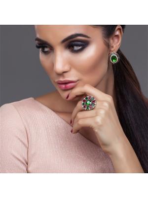 Кольцо АННАБЕЛЬ BRADEX. Цвет: зеленый, темно-бордовый, серебристый, бронзовый, прозрачный