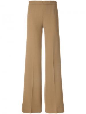 Расклешенные брюки P.A.R.O.S.H.. Цвет: телесный