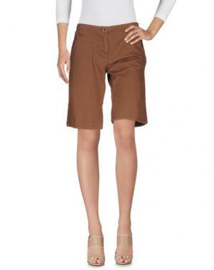 Бермуды DIVINA. Цвет: коричневый