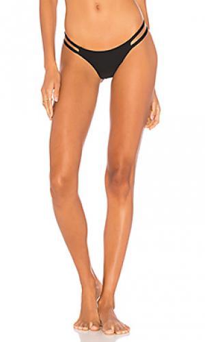 Кокетливые плавки-бикини kenya MIKOH. Цвет: черный