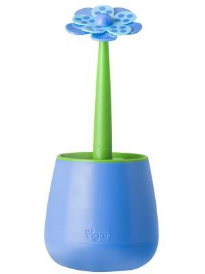 Сушилка для посуды и столовых приборов VIGAR. Цвет: голубой, зеленый