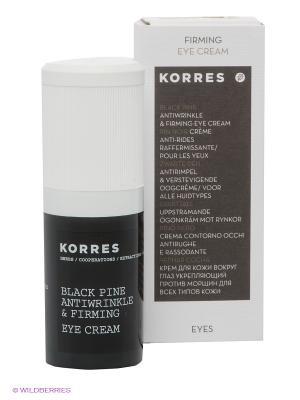 Крем для кожи вокруг глаз Korres. Цвет: белый, черный