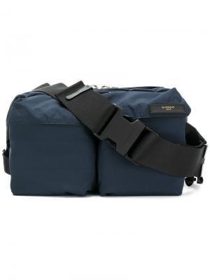 Поясная сумка с накладными карманами Givenchy. Цвет: синий