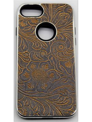 Чехол для iPhone 7 JD.ZARZIS. Цвет: коричневый, золотистый