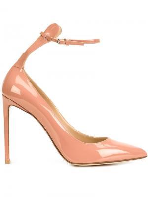 Туфли с ремешком на щиколотке Francesco Russo. Цвет: розовый и фиолетовый