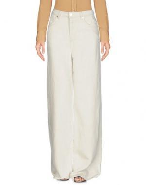 Повседневные брюки MAX & CO.. Цвет: слоновая кость