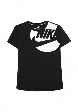Футболка Nike. Цвет: черный