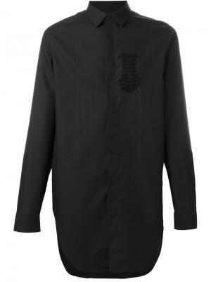 Рубашка с принтом скелета Cy Choi. Цвет: чёрный