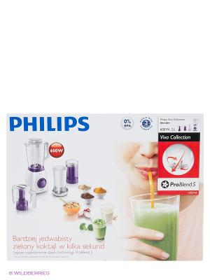 Блендер электрический Philips HR2166/00. Цвет: фиолетовый, белый