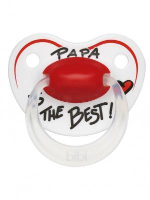 Пустышка Premium Dental силикон 6-16 мес. Happiness Papa Bibi.. Цвет: красный
