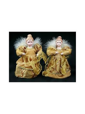 Игрушка новогодняя Ангел Русские подарки. Цвет: золотистый, белый
