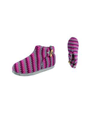 Тапочки De Fonseca. Цвет: серый, розовый