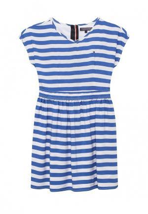 Платье Tommy Hilfiger. Цвет: голубой