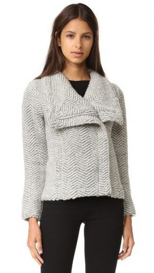 Текстурированный жакет Sanford с асимметричной молнией cupcakes and cashmere. Цвет: серый