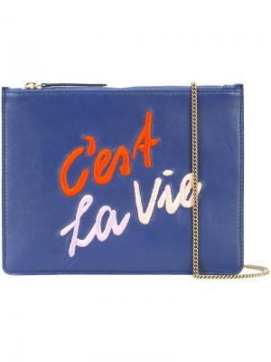 Cest La Vie clutch Lizzie Fortunato Jewels. Цвет: синий