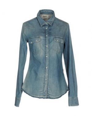 Джинсовая рубашка MELTIN POT. Цвет: синий