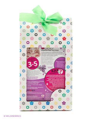 Sosu Носочки для педикюра с ароматом лаванды 2 пары в подарочной упаковкеМурасаки. Цвет: прозрачный