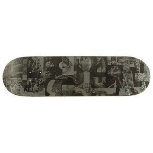 Дека для скейтборда  Collage 1 Grey/Black 32.175 x 8.375 (21.3 см) Absurd. Цвет: серый,черный