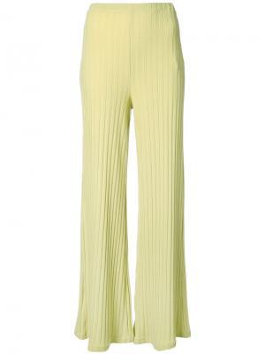 Расклешенные брюки в рубчик Simon Miller. Цвет: жёлтый и оранжевый