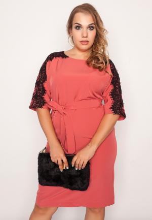 Платье Eliseeva Olesya. Цвет: коралловый