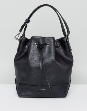 Matt & nat Черная сумка на плечо со шнурком. Цвет: черный