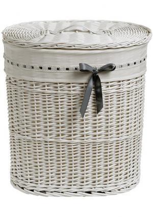Корзина для белья Heine Home. Цвет: белый, коричневый