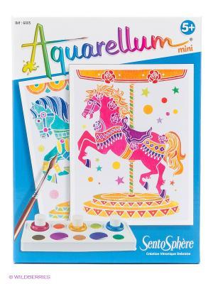 Набор акварельных красок Лошади SENTOSPHERE. Цвет: голубой