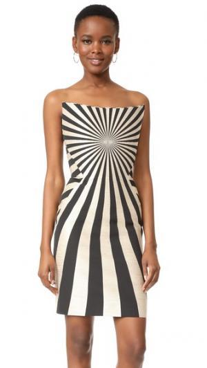 Платье с корсетом Gareth Pugh. Цвет: черный/песочный/натуральный