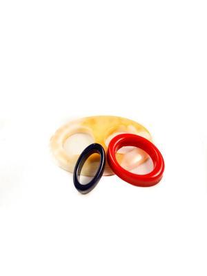 Пряжка Волшебная пуговица Овал и кольцо для шарфа madam Пряжкина. Цвет: темно-синий, золотистый, красный