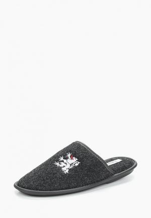 Тапочки HCS. Цвет: серый