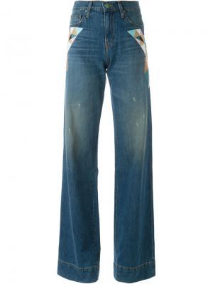 Расклешенные брюки Sandrine Rose. Цвет: синий