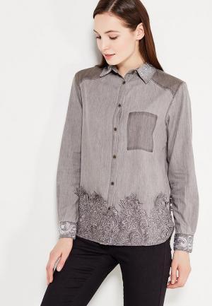 Рубашка Desigual. Цвет: серый
