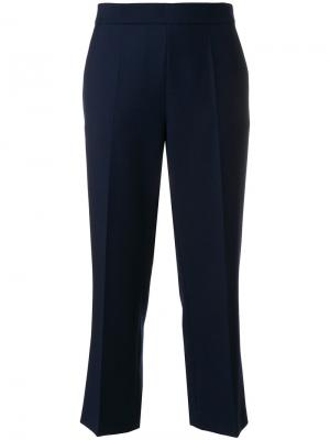 Укороченные брюки Odeeh. Цвет: синий