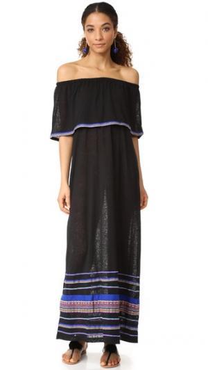 Макси-платье Peruvian Pitusa. Цвет: голубой
